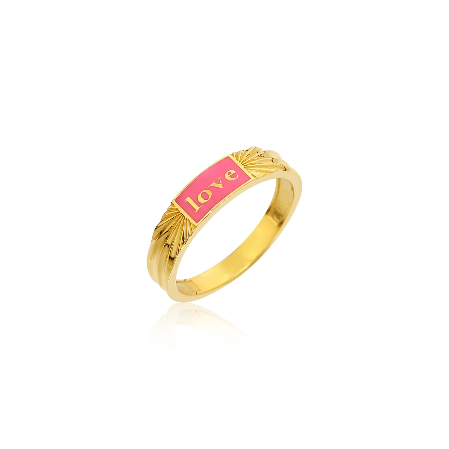 Gold plated enamel ring models