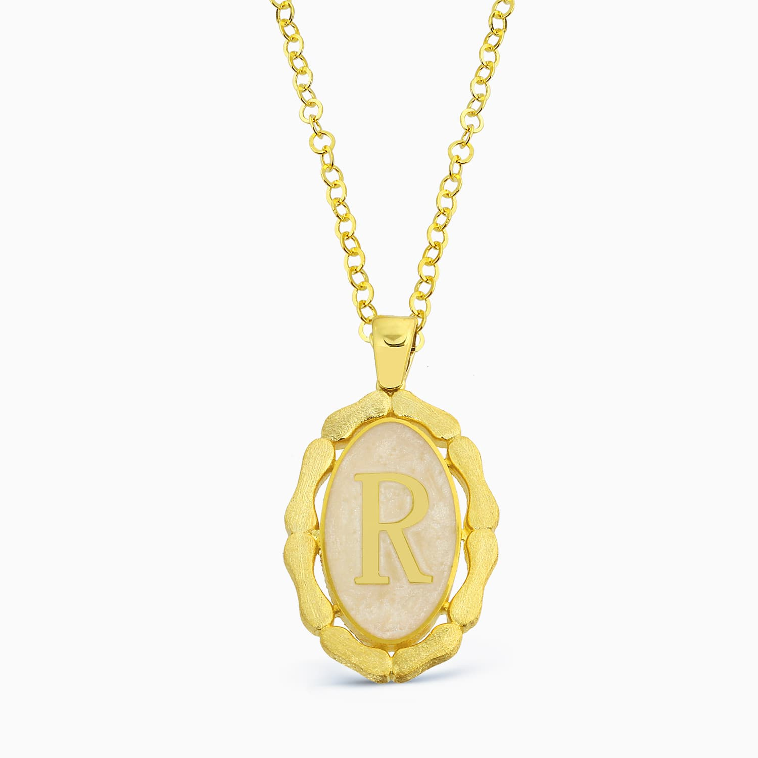 LETTER R MINNED NECKLACE