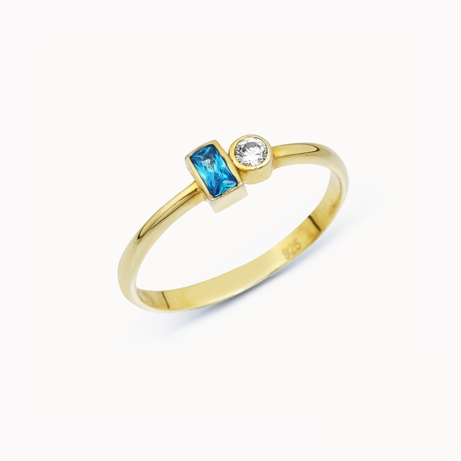 Kifo Color Stone Ring - Topaz