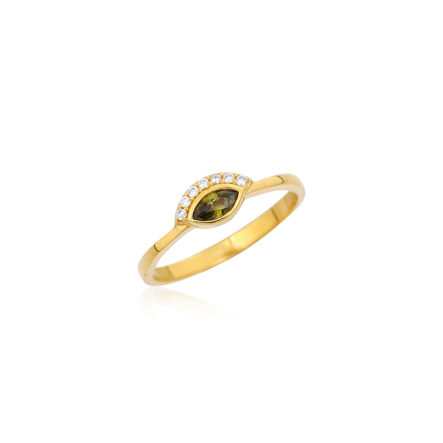 Kun Color Stone Ring - Green