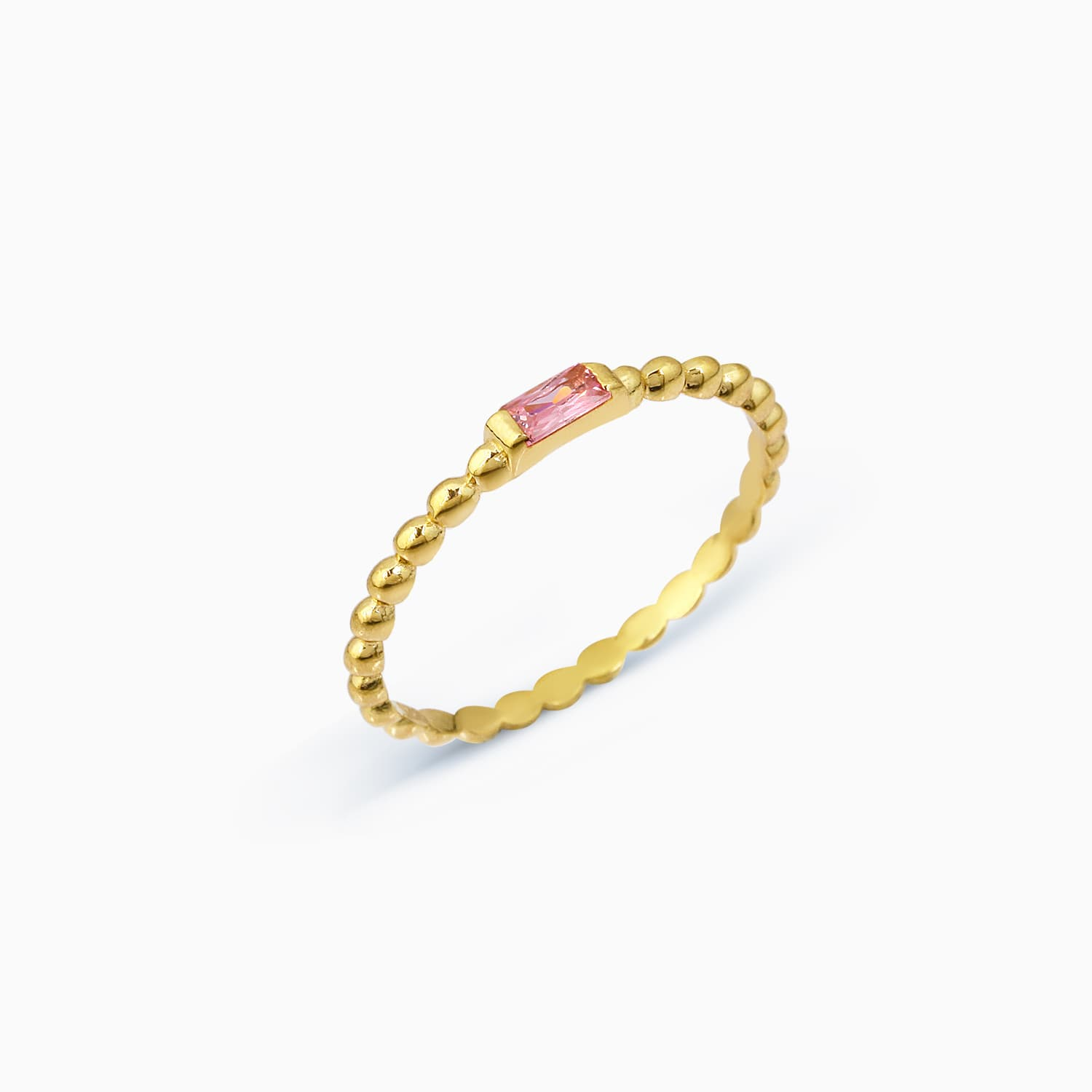 Serfe Colorful Stone Ring - Pink