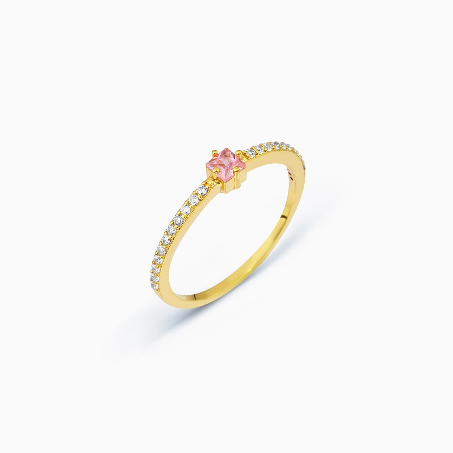 Simes Colored Stone Ring - Pink