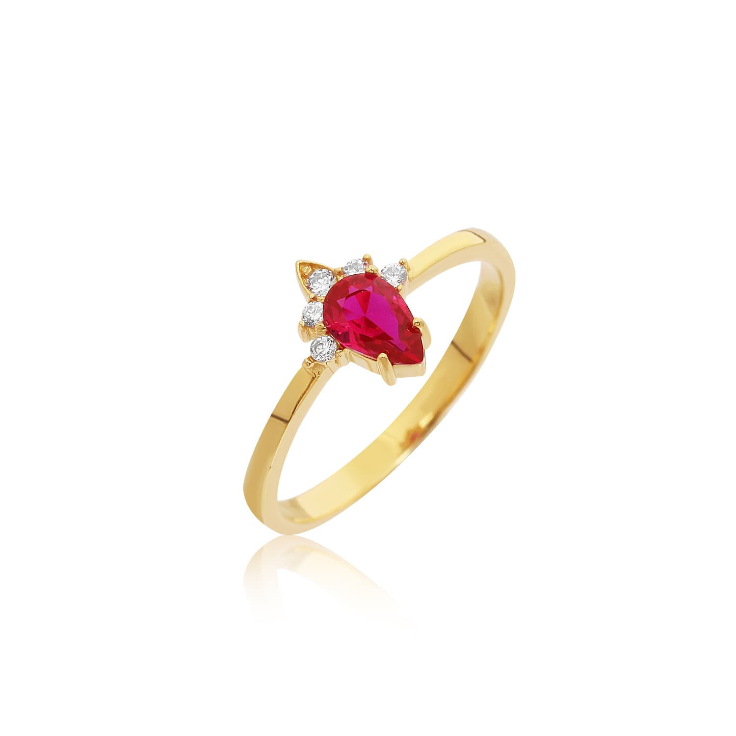 Met Color Stone Ring - Ros