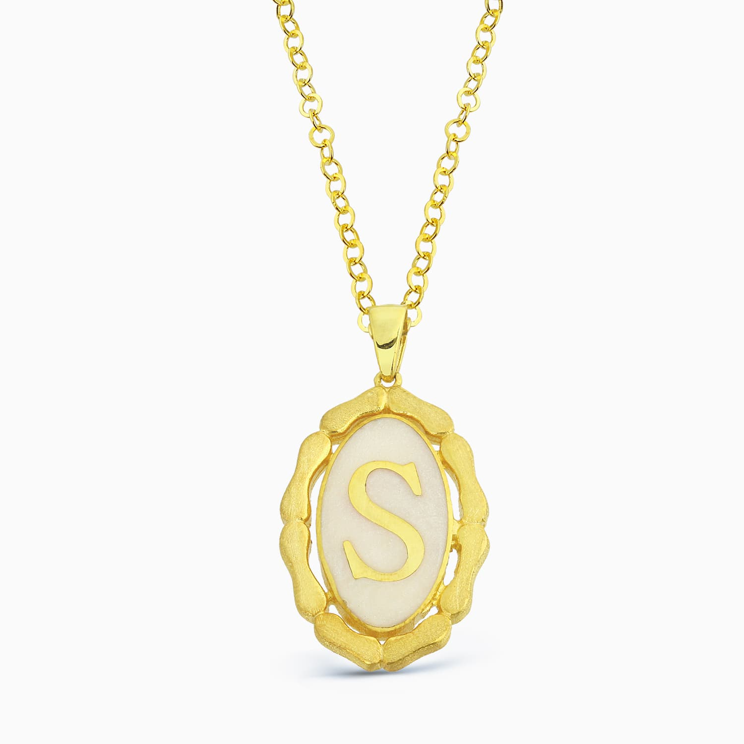 LETTER S MINNED NECKLACE
