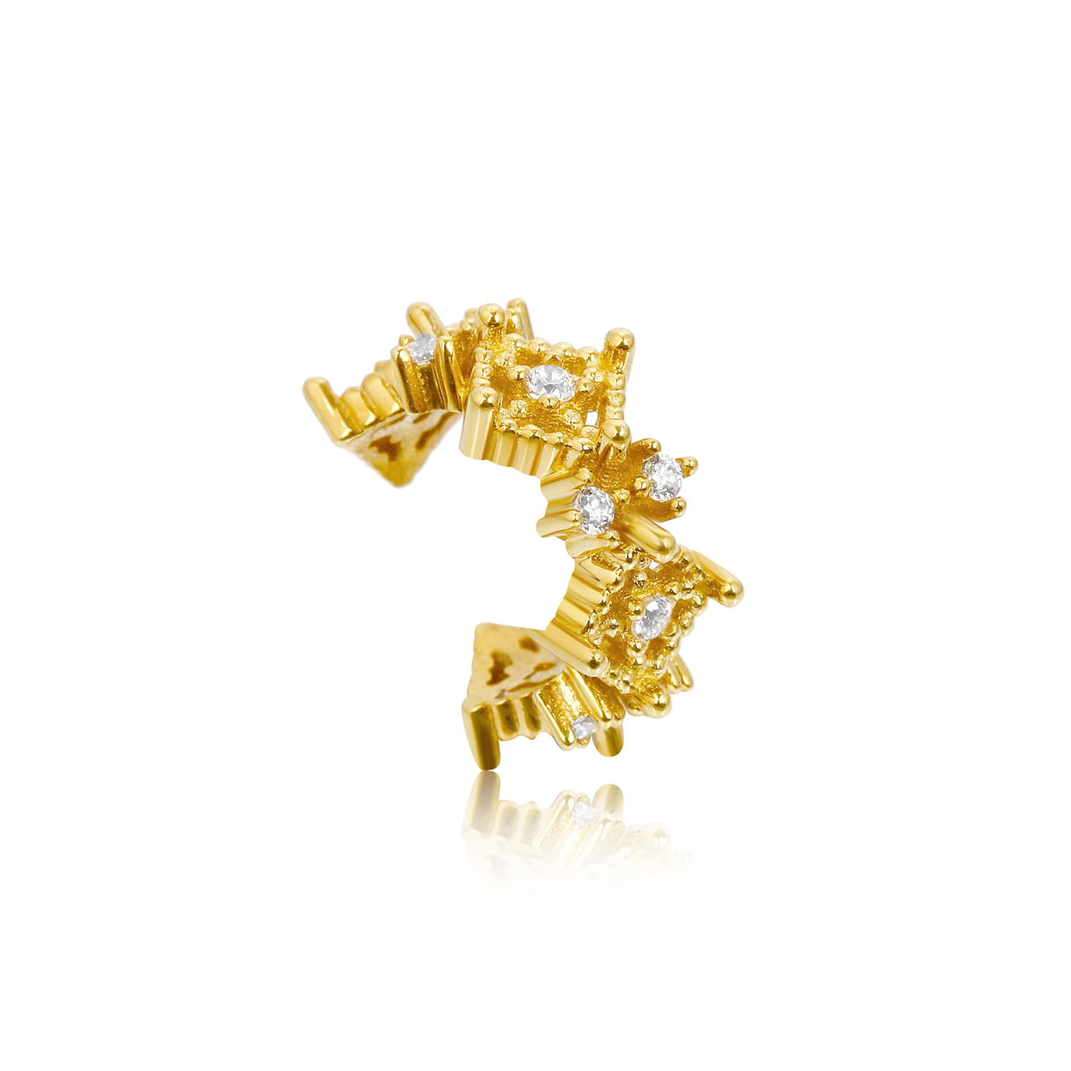 real gold plated gold plated earcuff earring moedls over silver