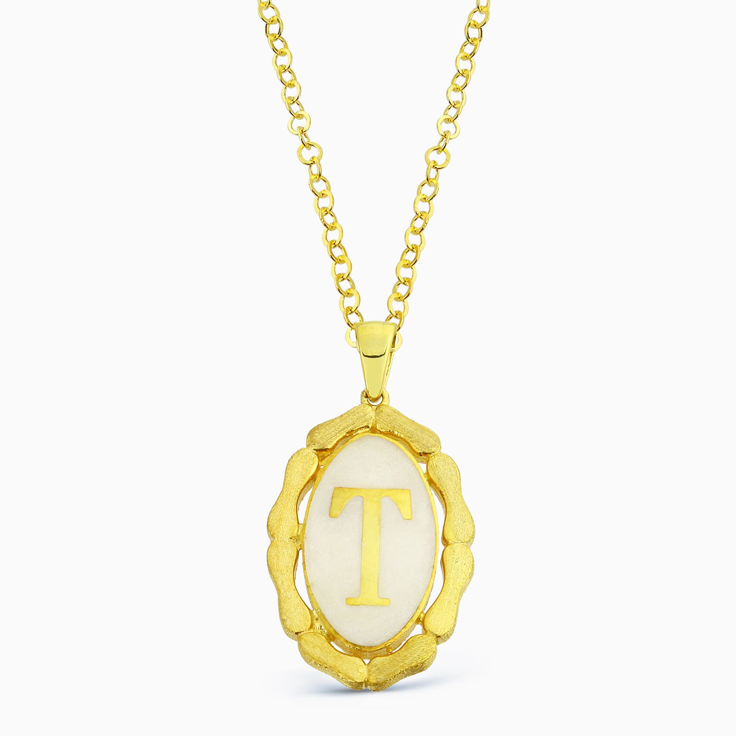 LETTER T MINNED NECKLACE