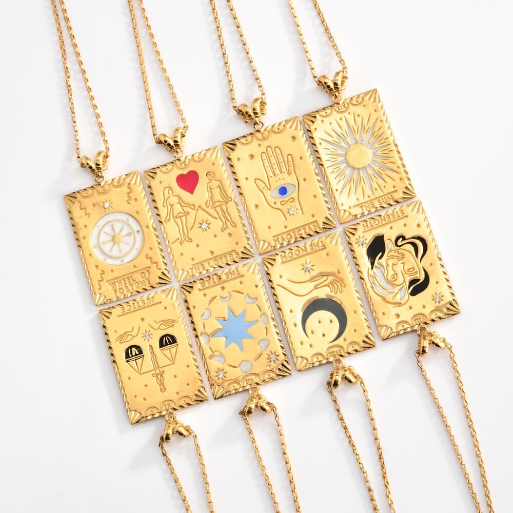 THE LOVERS TAROT NECKLACE