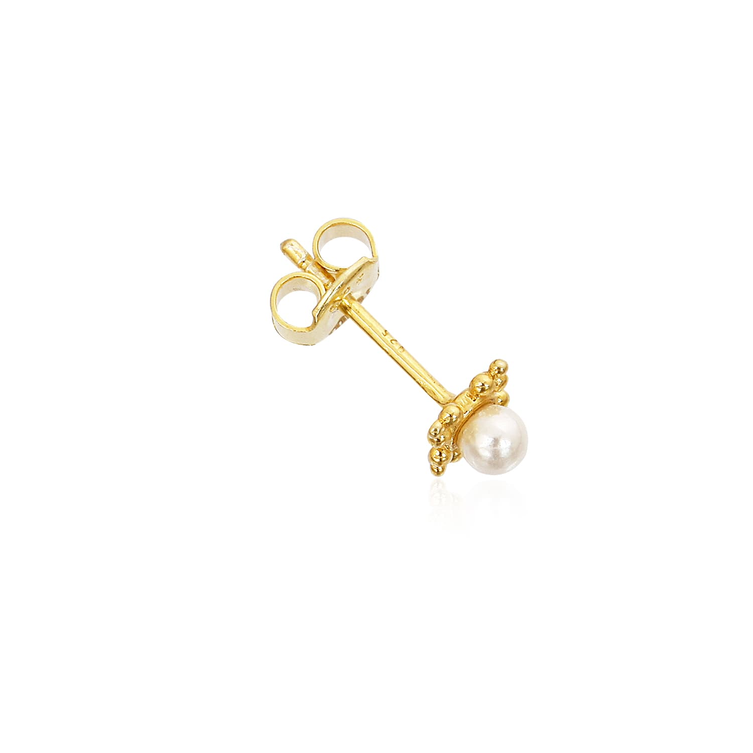 Real 24 carat gold plated pearl earring models on silver