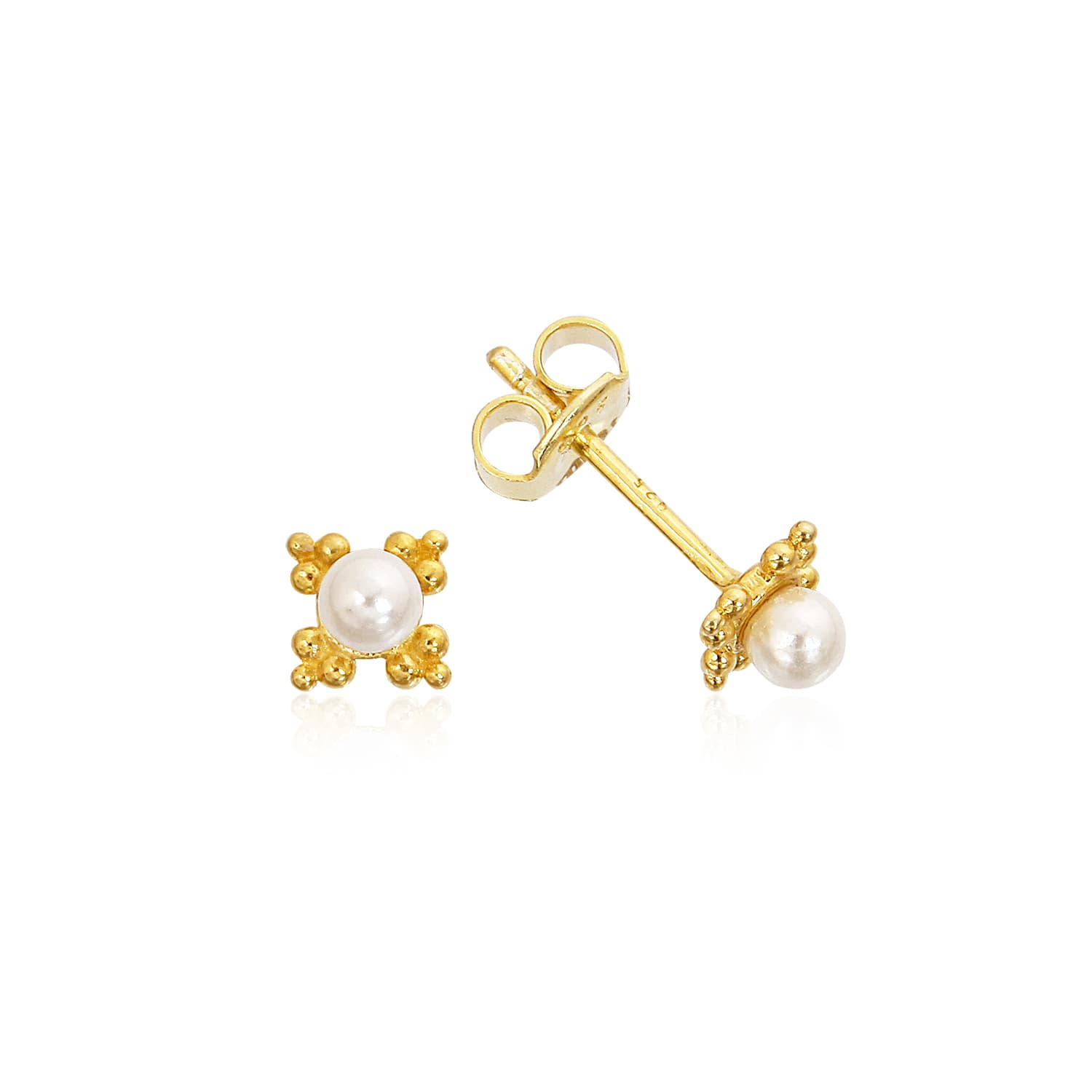 PEARL BLOOM STUD EARRING