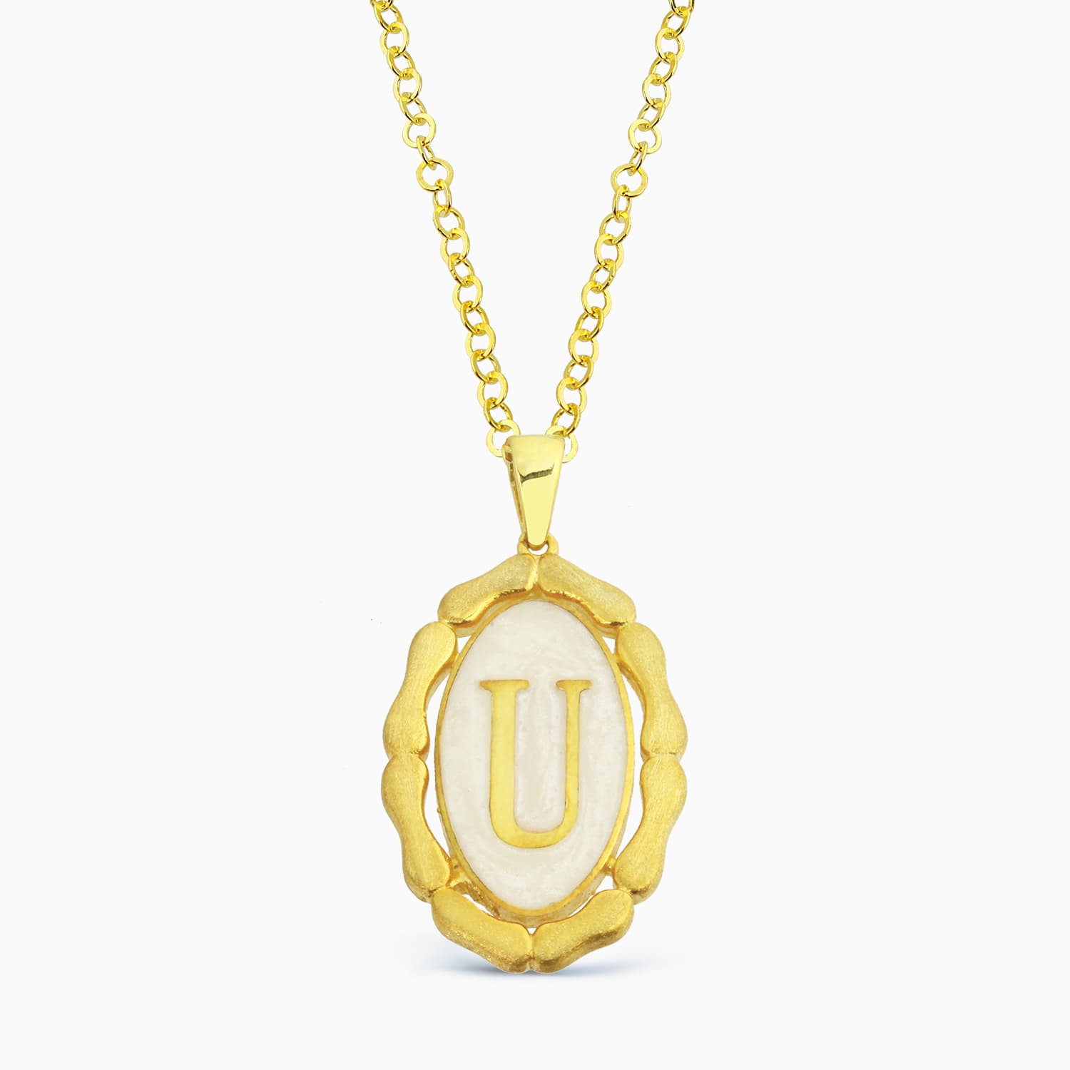 LETTER U MINNED NECKLACE