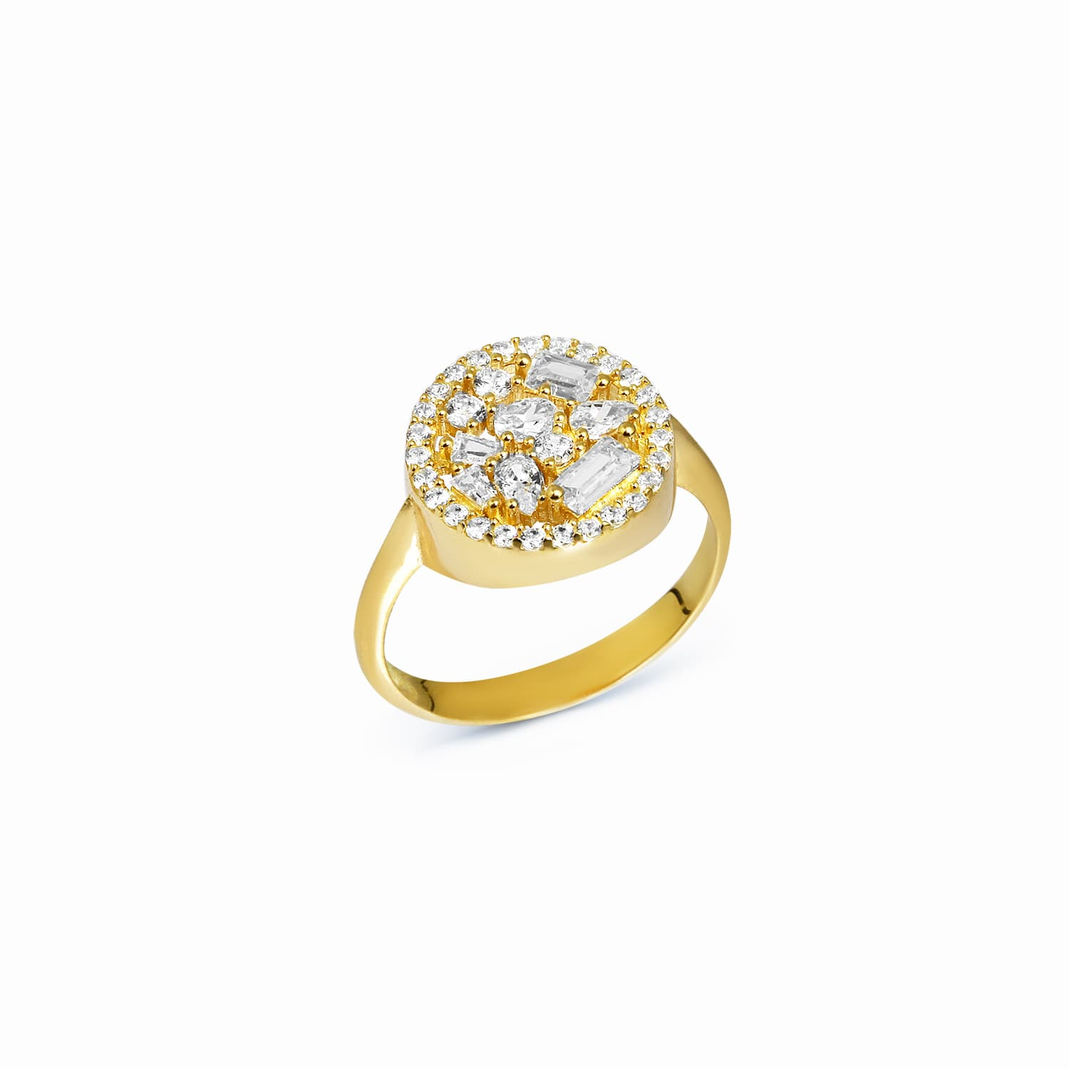 Round Baguette Ring