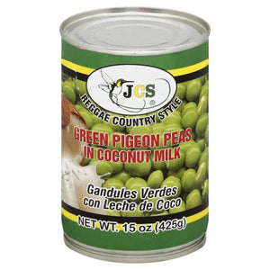 JCS Green Pigeon Peas in Coconut Milk 15 oz