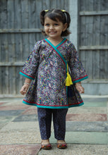 Load image into Gallery viewer, Navy Blue - Printed kurti with trouser