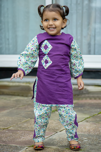 Purple kurta with trouser