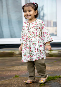 Floral kurta with trouser