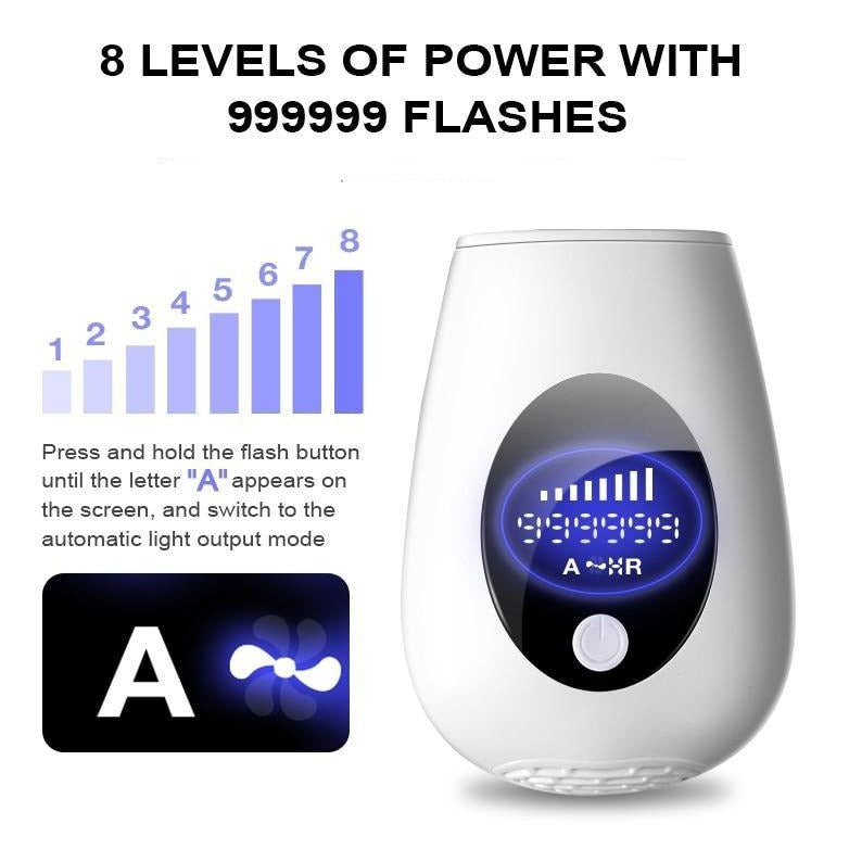 NEW Pro Hair Removal IPL Epilator with 30% More Power