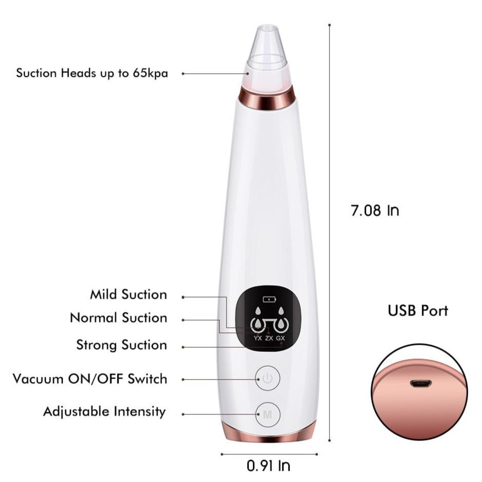 NEW Rechargeable Vacuum Blackhead Remover Pore Cleanser