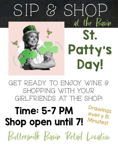 Sip & Shop on St. Patty's Day