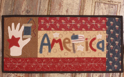 """AMERICA"" Stitched Flag * Pattern Buttermilk Basin"