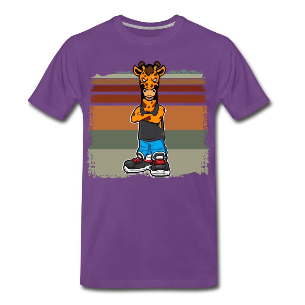 """Giraffeman"" - purple"