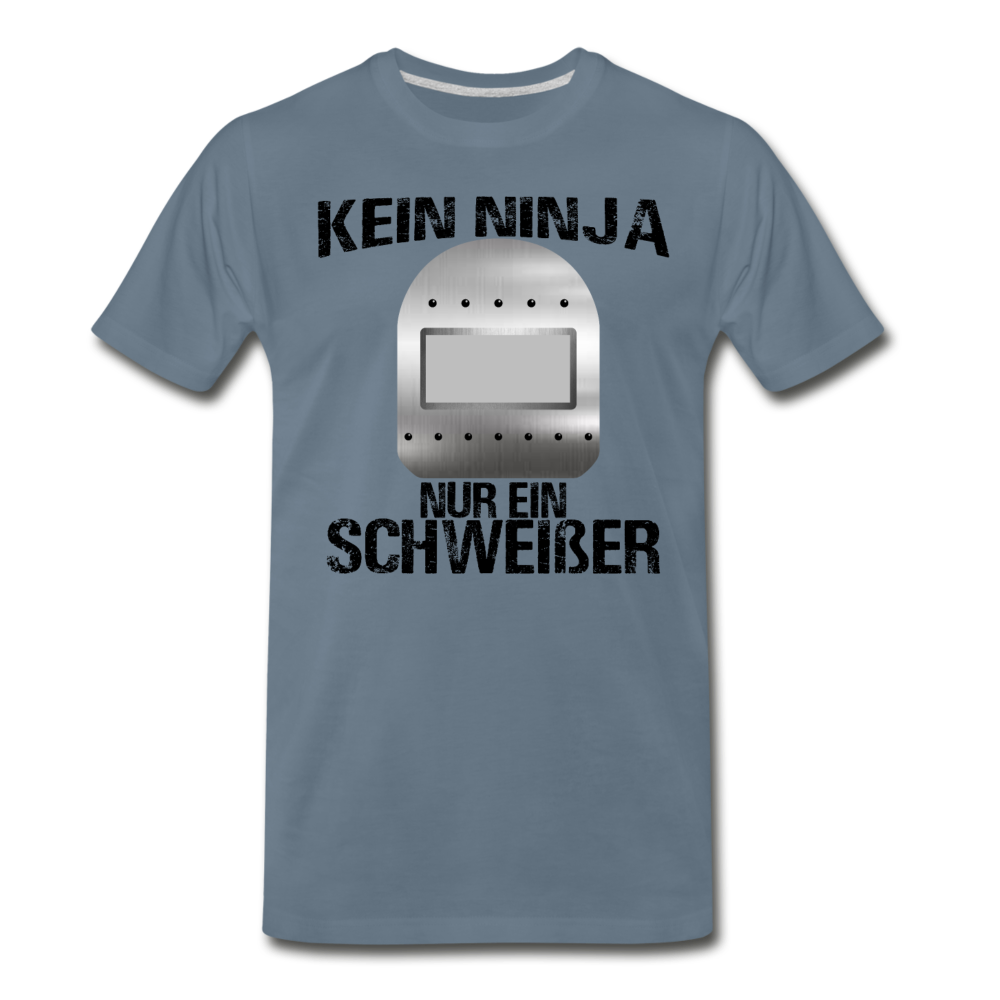 """Kein Ninja"" - steel blue"