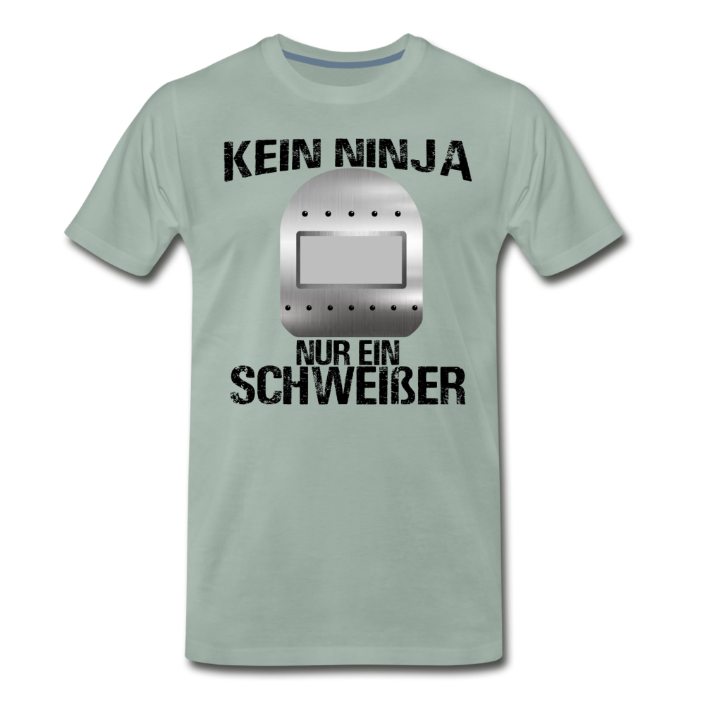 """Kein Ninja"" - steel green"