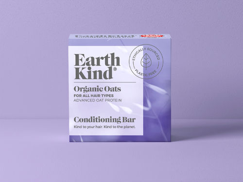EarthKind Organic Oats Conditioning Bar For All Hair Types. Kind to your hair. Kind to the planet.