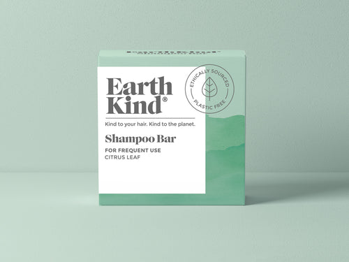 EarthKind Citrus Leaf Shampoo Bar for Frequent Use. Kind to your Hair. Kind to the planet.