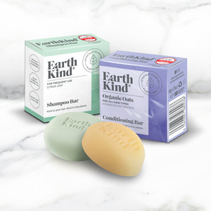 EarthKind Everyday Fresh Solid Shampoo Bar & Conditioner Bar Combo. Kind to your hair, kind to the planet.