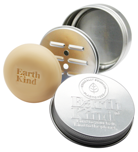 EarthKind Shampoo Bar Storage Tin. Keeps bars out of the water, ensuring they last longer. Ethical, sustainable haircare. Always cruelty free, always plastic free.