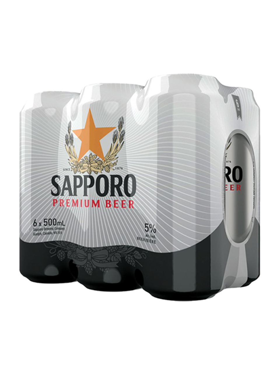 Sapporo Premium Beer Can 500ml 6 packs
