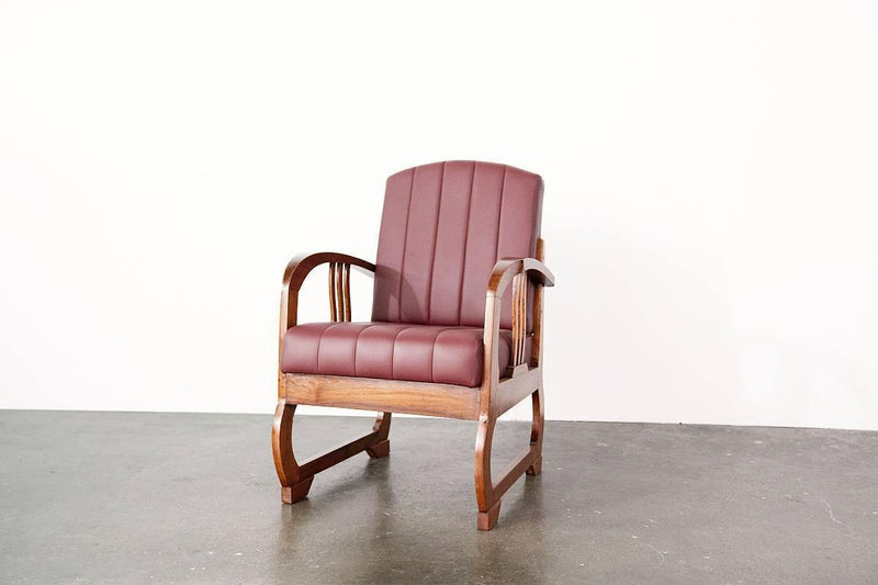 Art Deco Armchairs (Deep red)