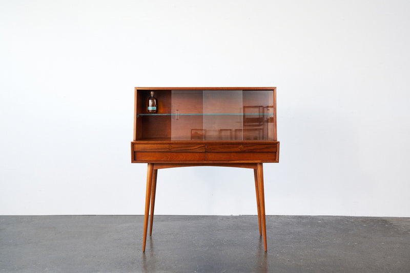 Retro Drinks Cabinet with Sliding Glass