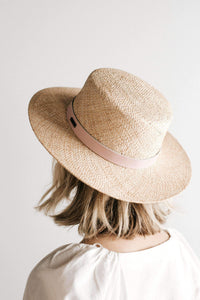 Brae Straw Boater with Leather Band