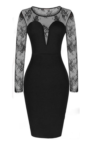 Celebrity Mesh Midi Party Bodycon Dress