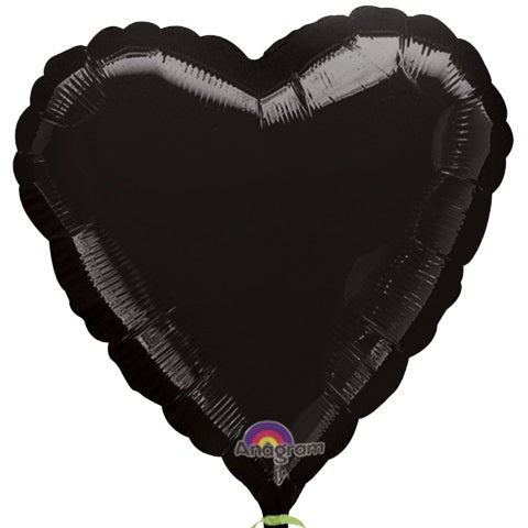 "18"" Black Heart Balloon"