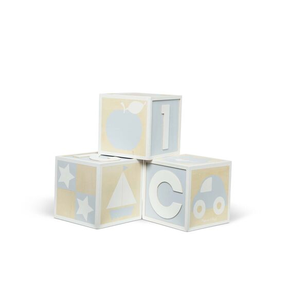 Jumbo Wooden ABC-123 Blocks - Natural