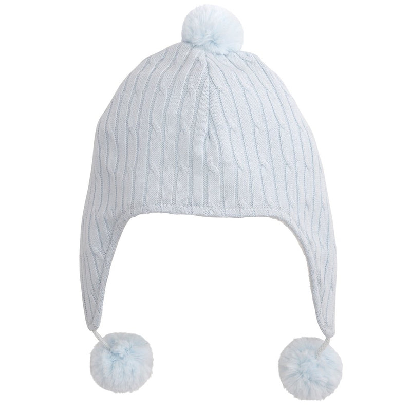 Blue Cable Aviator Hat