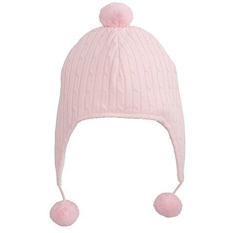 Pink Cable Aviator Hat