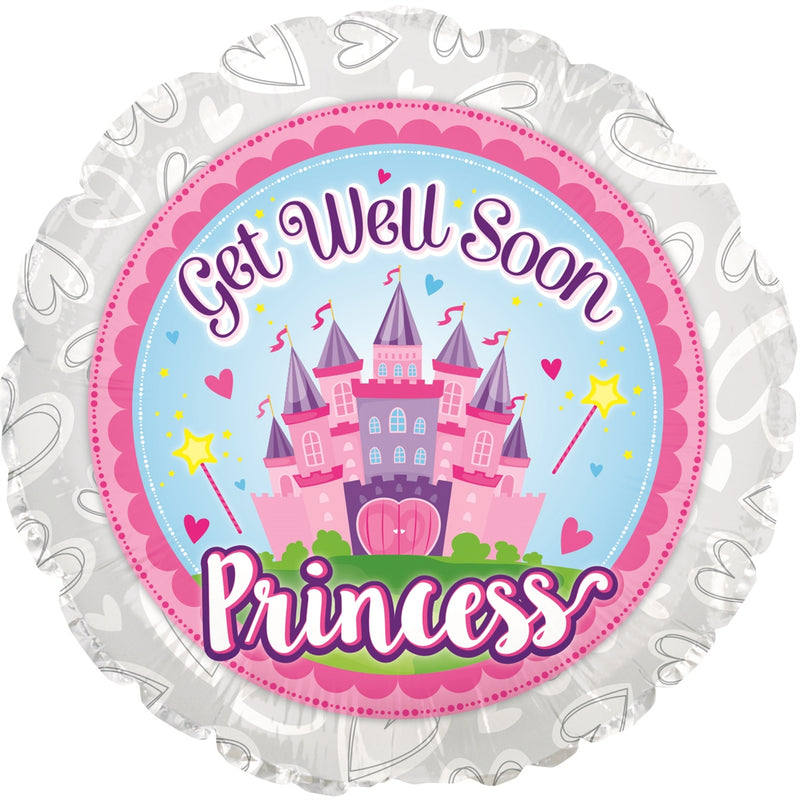 "18"" Get Well Soon Princess Balloon"