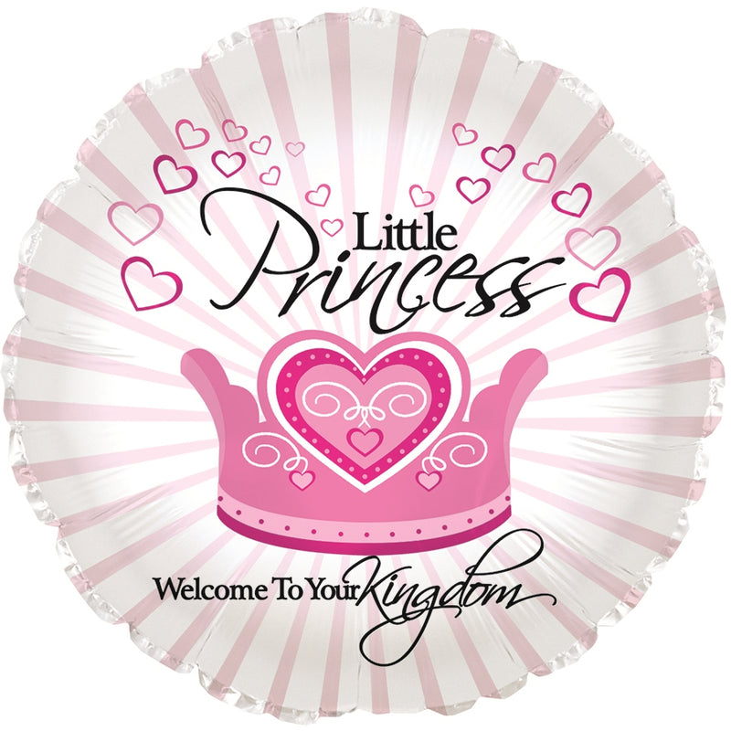 "17"" Little Princess Welcome To Your Kingdom Balloon"