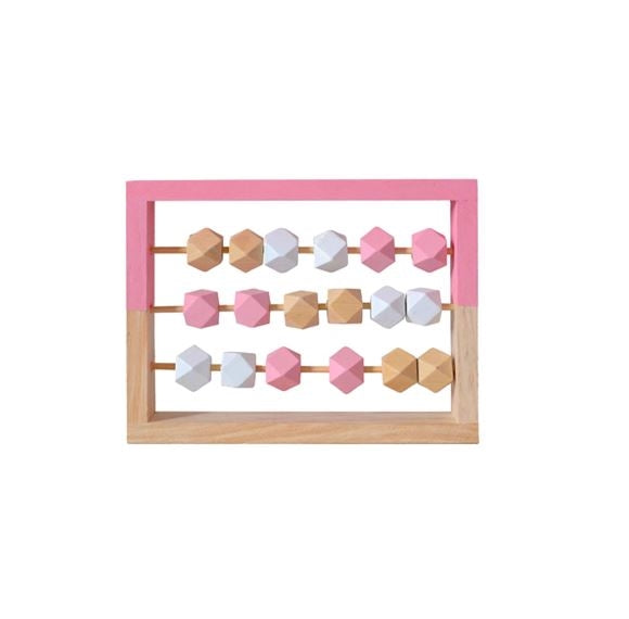 Pink Wooden Bead Frame Toy- Small