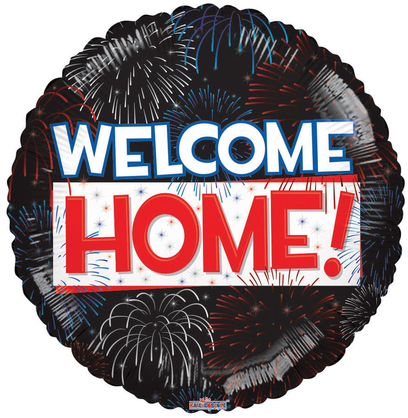 "18"" Welcome Home! Fireworks Balloon"