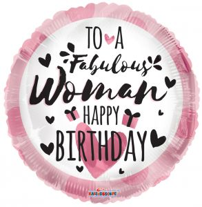 "18"" To A Fabulous Woman Happy Birthday Balloon"