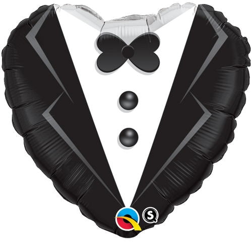 "18"" Wedding Tuxedo Heart Balloon"