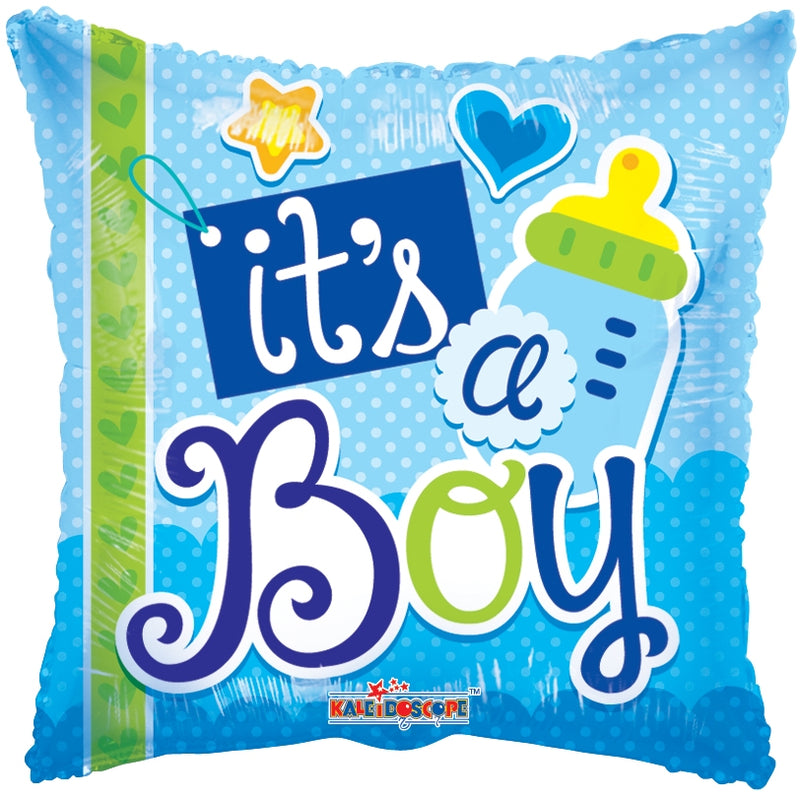 "18"" It's A Boy Elements Square Balloon"