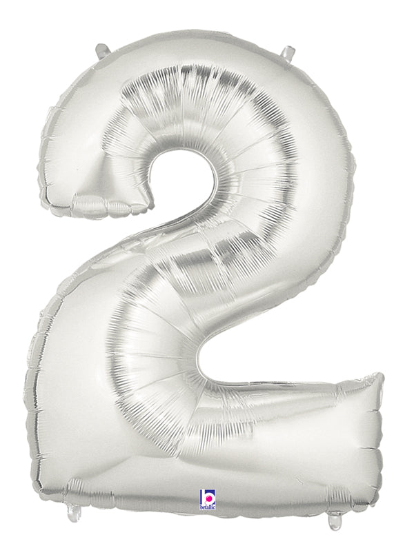 "40"" Number 2 Silver Balloon"