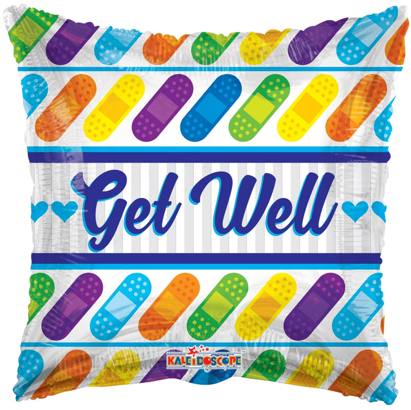 "18"" Get Well Bandages Balloon"