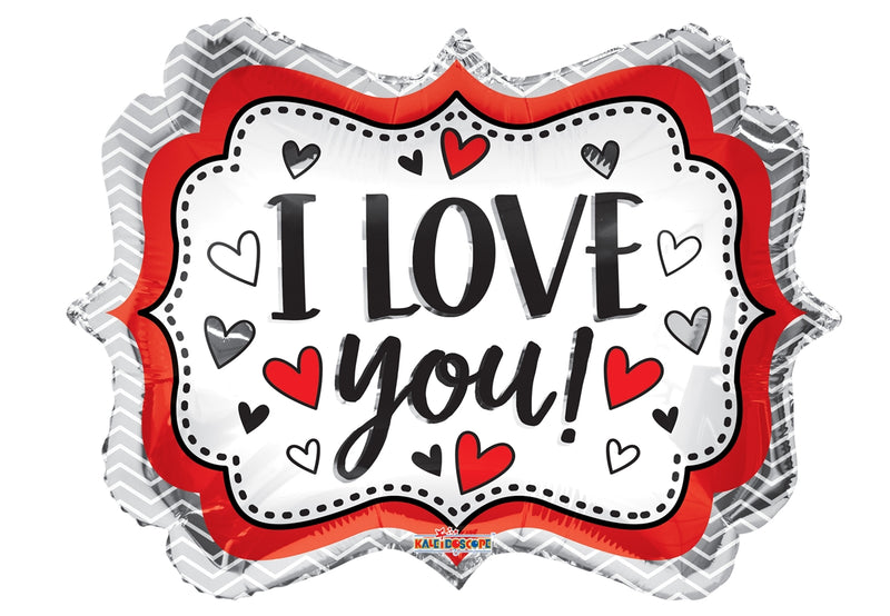 "18"" I Love You! Marquee Balloon"