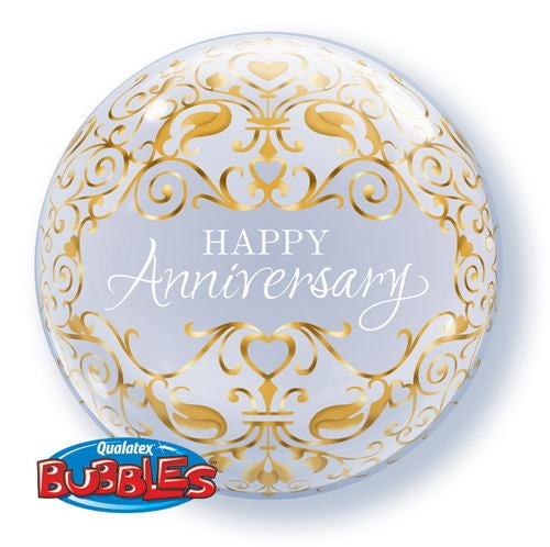 "22"" Happy Anniversary Classic Bubble Balloon"
